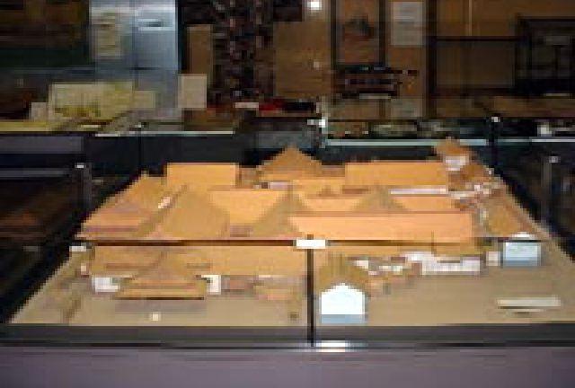 八戸城の復元模型